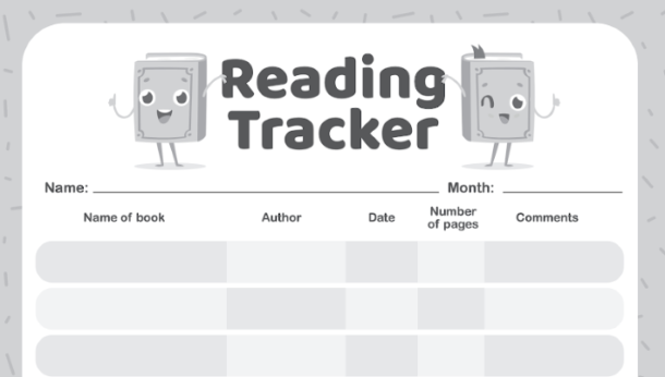 Reading Challenge Printable Reading Tracker - Kids Activities Blog