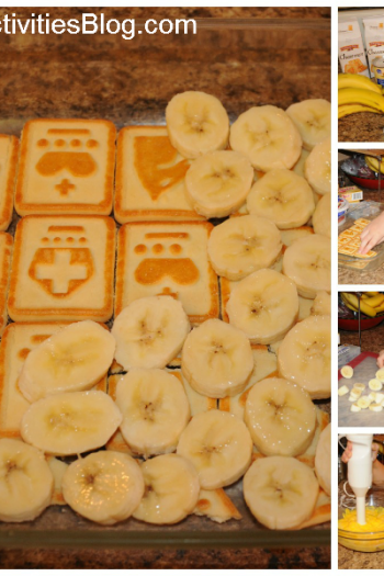 cool whip banana pudding Collage