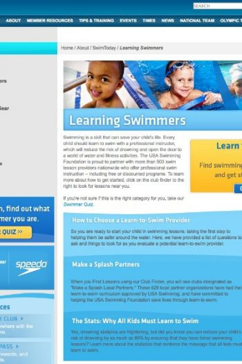 learning swimmers