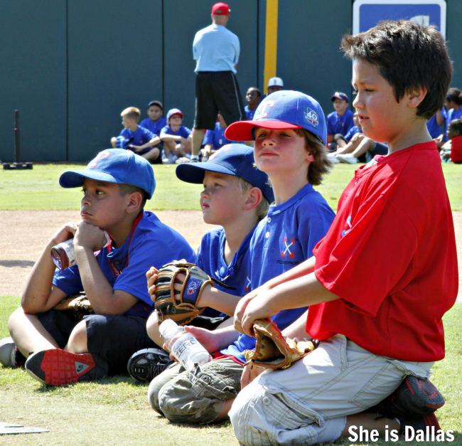 live positively youth baseball clinic at Youth ballpark in Arlington