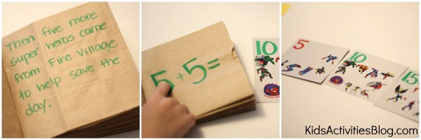 skip counting book Collage