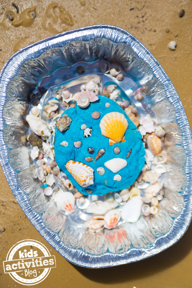 Ocean Play Dough with Sea Shells
