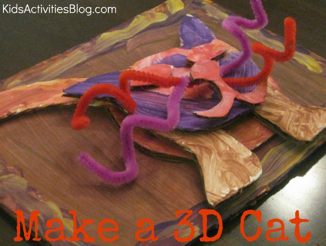 Cardboard, Paint, and Glue: How to Make a 3D Cat