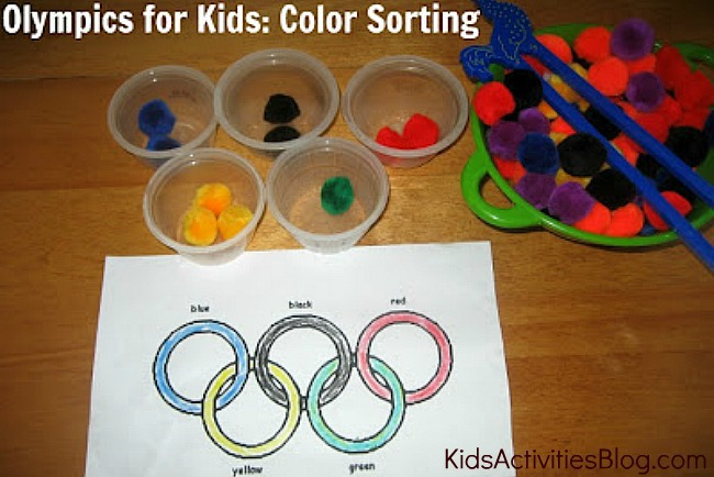olympics for kids sorting