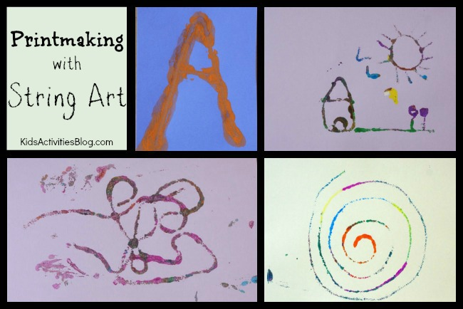 Printmaking with String Art
