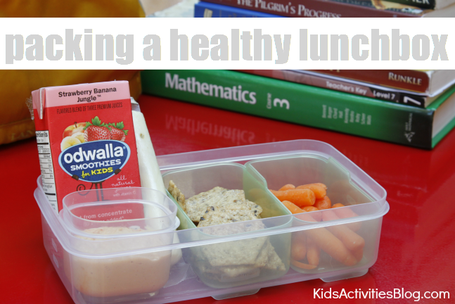 packing a healthy lunch with odwalla smoothies