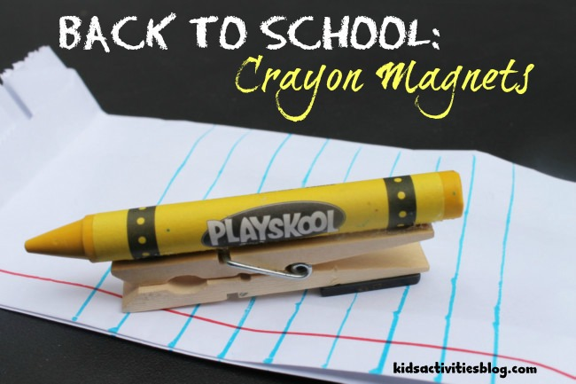 back to school crayon magnets
