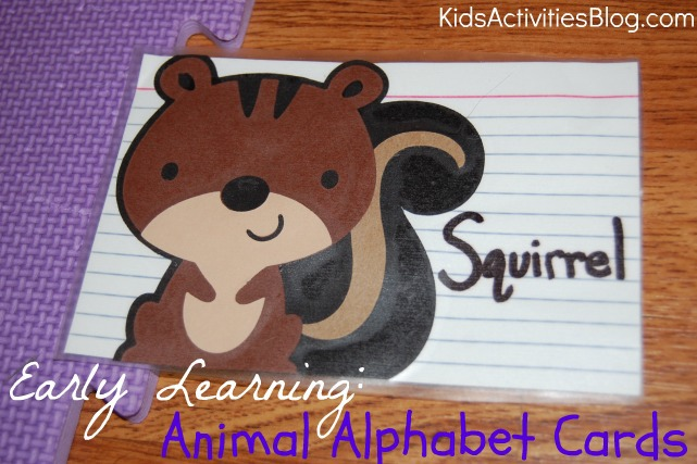 early learning animal alphabet cards