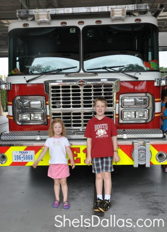 kids in front of truck