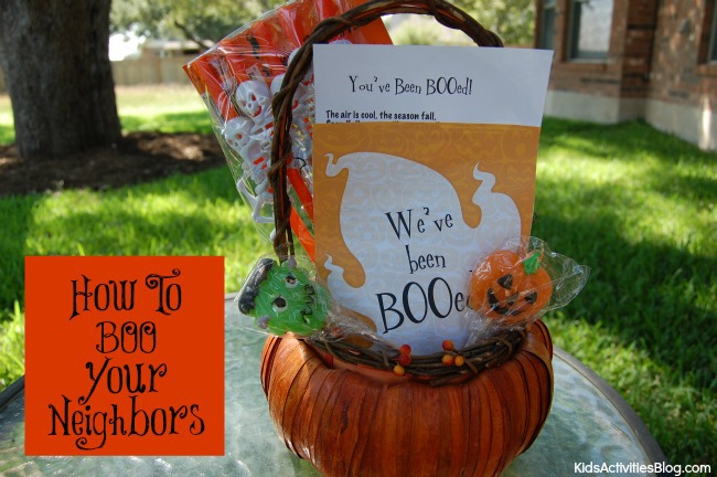 you've been booed treat basket with suckers, a card, and toys.