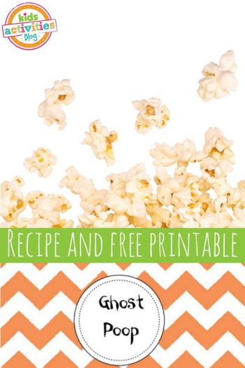 Ghost Poop Recipe and Free Printable from Kids Activities Blog