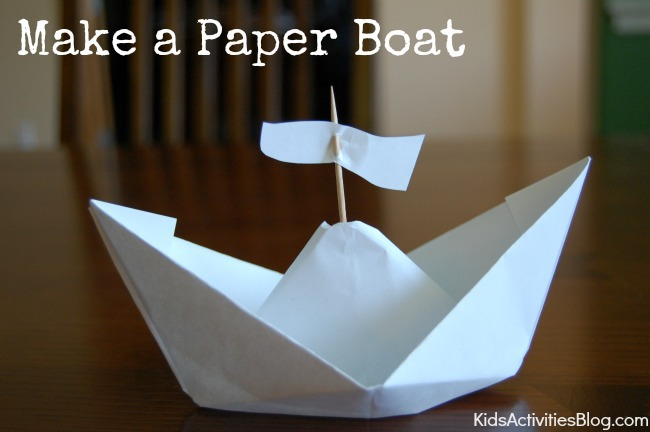 How to Make a Paper Boat {Columbus Day Activities}