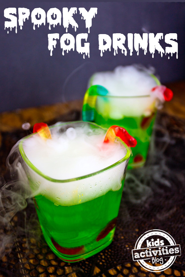 Spooky Fog Drinks for a Halloween Party
