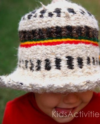 ethiopia hat made by a child