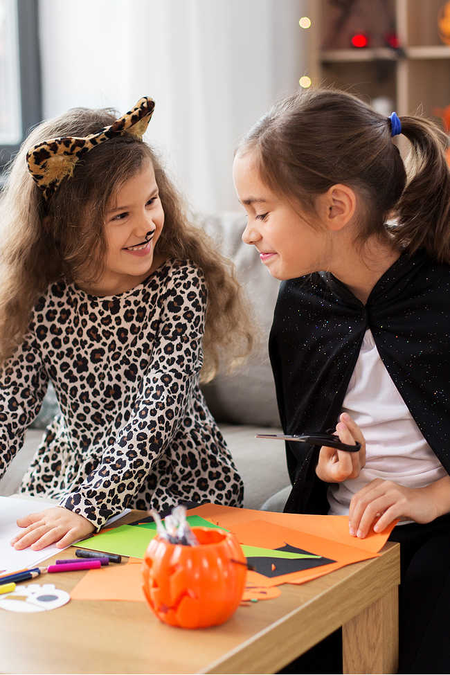 Simple Halloween Threading Activity Makes a Ring Shaker