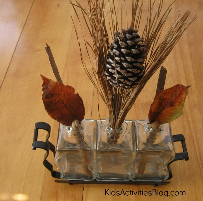 fall crafts for kids found object art