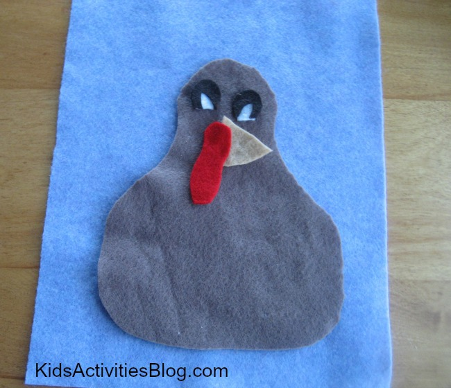 Added a little red to this thanksgiving activity for preschoolers