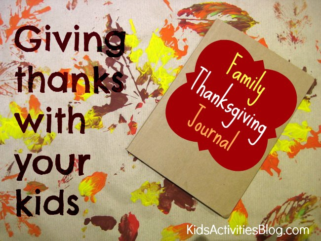Family Thanksgiving journal to spend time with your kids