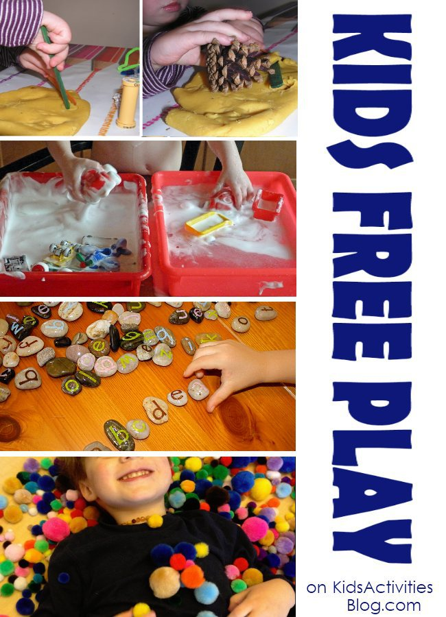 Great ideas of ways for Kids to  Free Play
