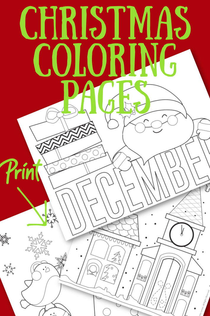 3 Festive Christmas Coloring Pages Perfect for December