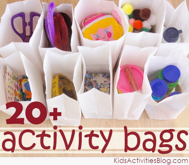invitation to play, bag, activities for kids
