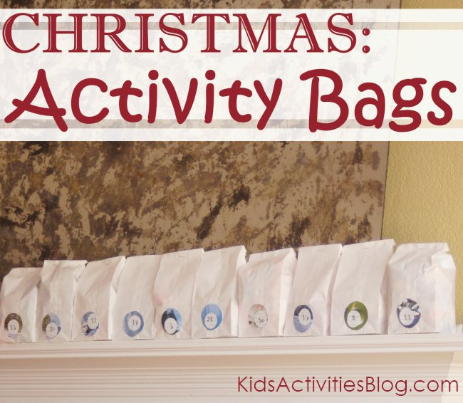 Activities for kids - in a bag
