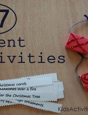 Countdown to Christmas with an Advent Calendar - lots of Christmas Activities to do with your kids (includes a printable)