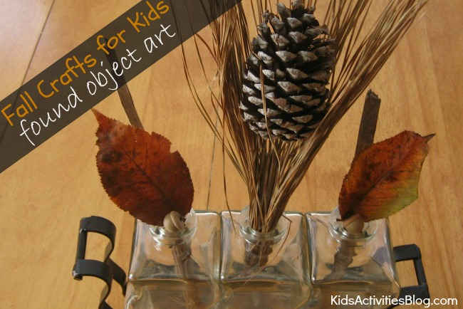 {Fall Crafts for Kids} Found Object Art
