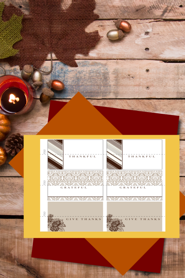 Thanksgiving Printable Placecards {for Mom}