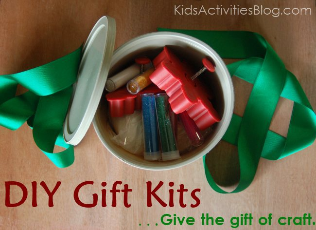 Make Gift Kits - tub includes items commonly found in kitchens to make a sparkling salt dough kit.