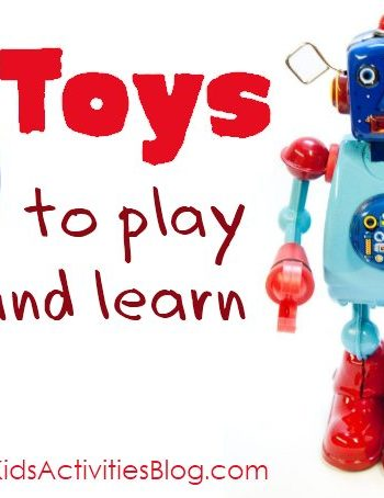 20 different toys that help kids learn while playing - great gift guide!