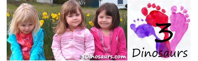 Mom to Mom blog feature of 3 Dinosaurs
