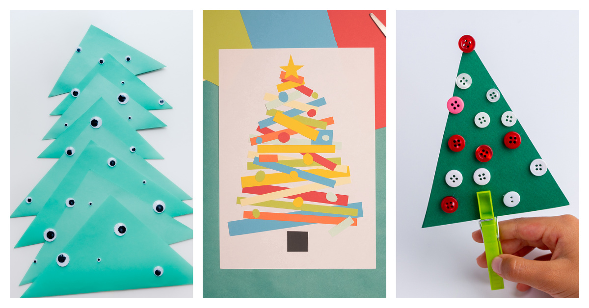 5 Easy Crafts To Make Paper Christmas Trees With Kids Kids Activities Blog