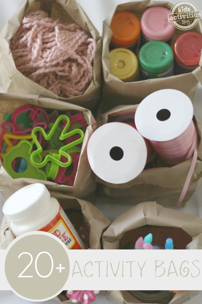 {It's Playtime} Activity Bags for Quiet Play!