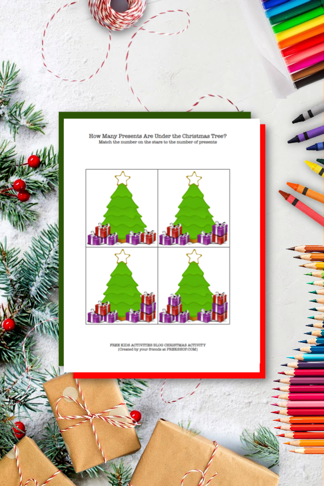 Learning to Count with {Printable} Christmas Math Worksheets