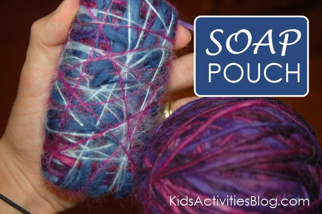 How to create a felted soap pouch - great for kids who drop slippery soap.