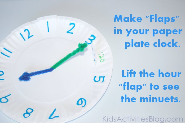 """how to make a """"telling time"""" plate"""