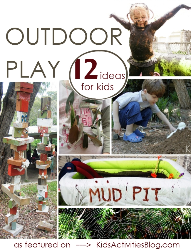 Its playtime:  Lots of activities for kids... outdoors!