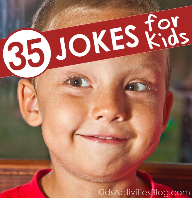 best jokes for kids - 35 jokes for kids - boy looking and giggling