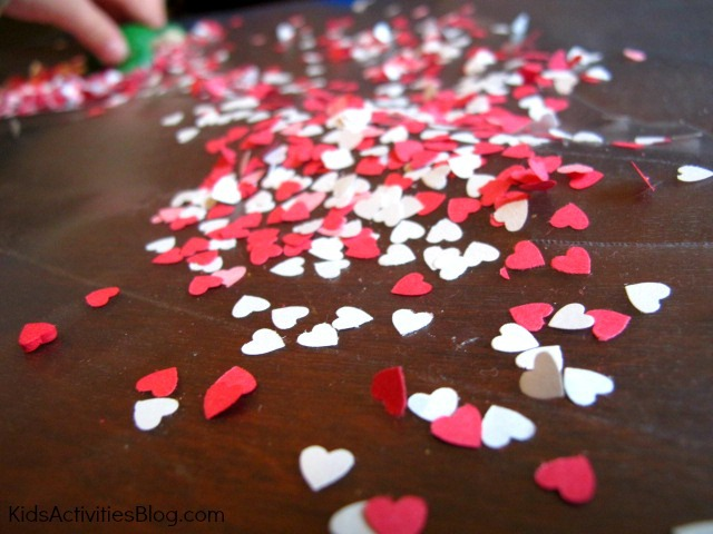 Valentine Crafts for kids: cute heart suncatcher activity
