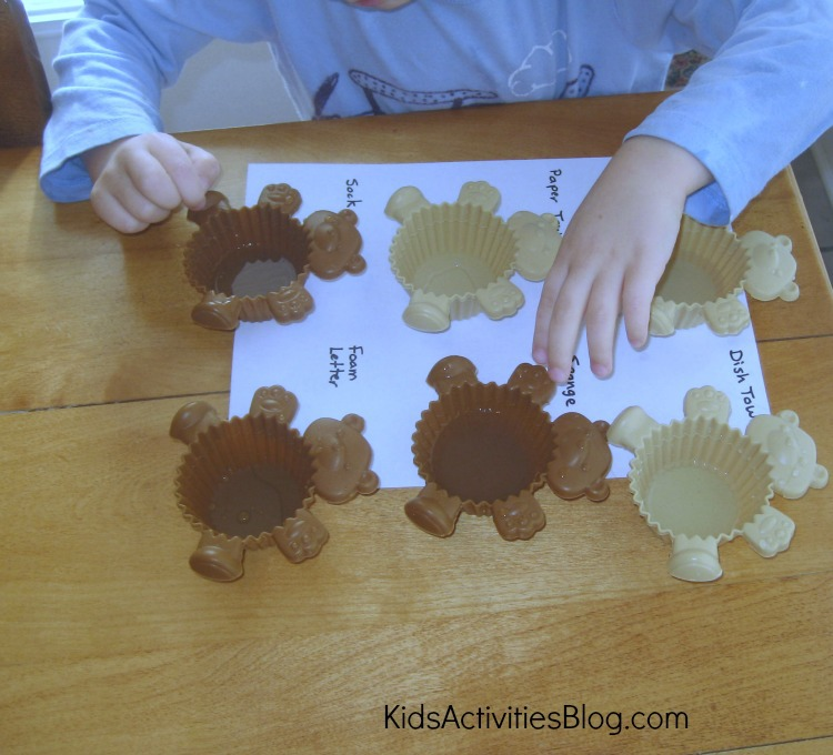 Kids Activities: Learning with a Water Experiment results center - each measurement