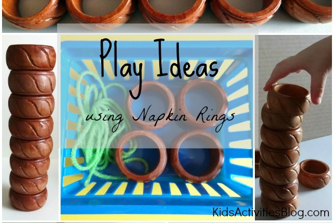 Play Ideas From The Table {Napkin Rings}