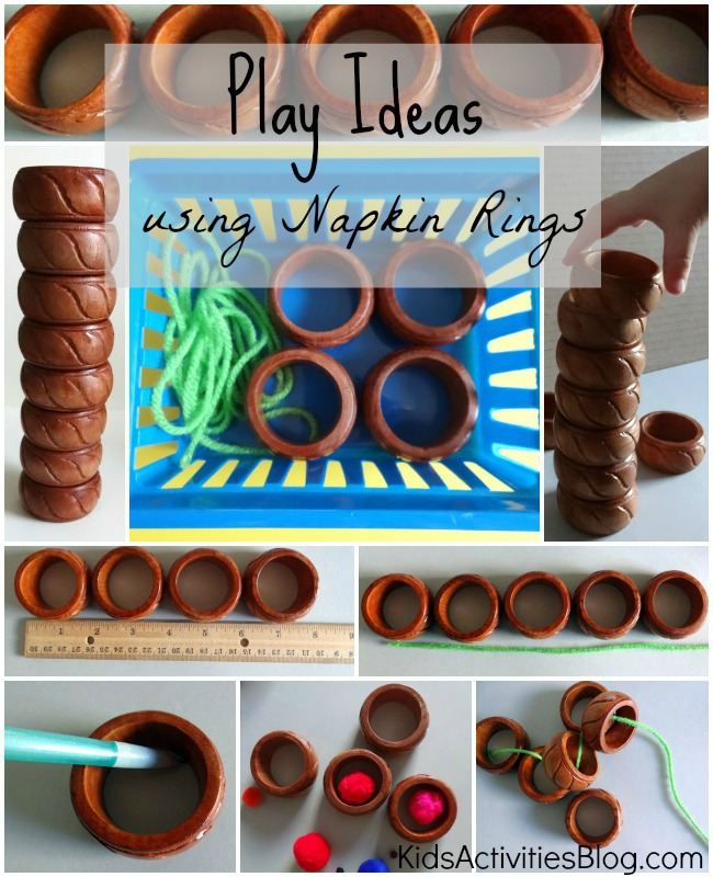Play Ideas Using Napkin Rings