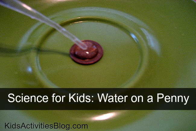 {Water Experiment} Water on a Penny