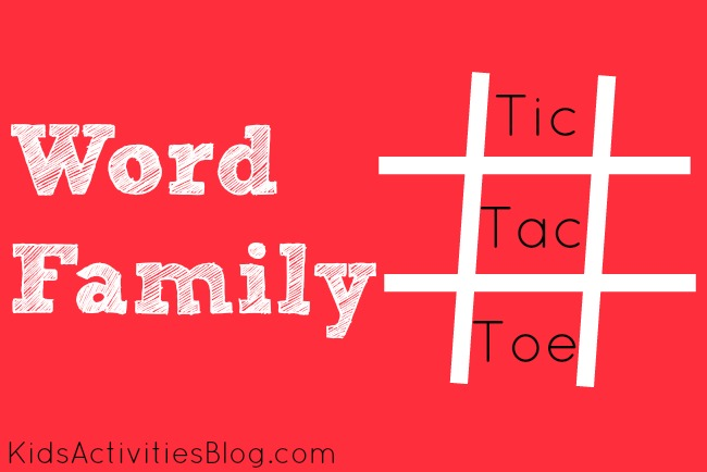 Word Family Tic-Tac-Toe {Reading Game}