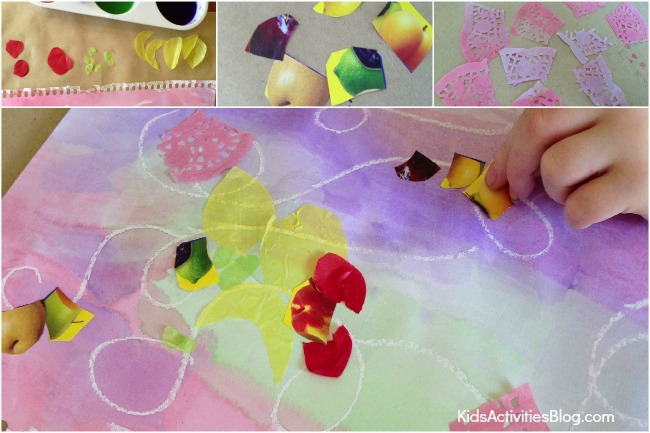 Book Inspired Art from Here Comes Frankie! {Wax Resist for kids}