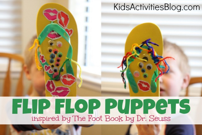 Flip Flop craft idea inspired by Dr Seuss' The Foot Book
