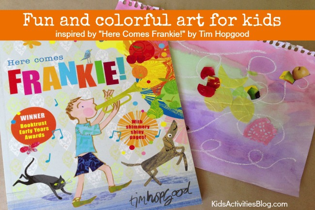 Here Come Frankie! {Book Inspired} Colorful Wax Resist Art