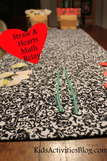 Kids will have fun with math using this simple straw game