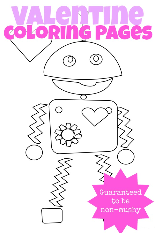 - 3 {Non-Mushy} Valentines Day Coloring Pages